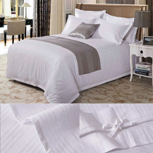 Fancy Stripe Design 60s Cotton High Density Percale Bedding Set (DPFB80109) pictures & photos