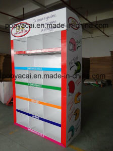 Cardboard Retail Floor Display Stands for Helmets Foldable Design Can Hold 100kgs pictures & photos