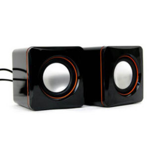 Small Square Stylish Green Stereo Loudspeaker Notebook USB Mini Speaker pictures & photos