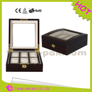 High Quality Lacquer Finish Wooden Watch Box with Lock