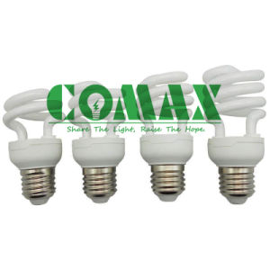 Tri-Color CFL Lighting T2 Half Spiral Series Energy Saving Lamp pictures & photos