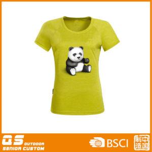 Women′s Melange Print Fashion Quick Dry T-Shirt pictures & photos