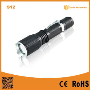 S12 Outdoor Hand Light 18650 Battery LED Rechargeable Flashlight pictures & photos