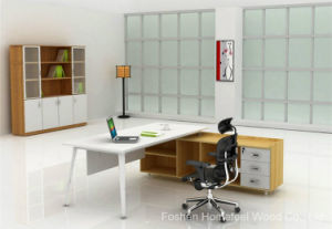 Fashion Wooden Office Furniture Manager Table with Metal Leg (HF-MB010) pictures & photos