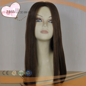 Long Human Remy Straight Hair Hand Tied Top Full Lace Women Wig pictures & photos