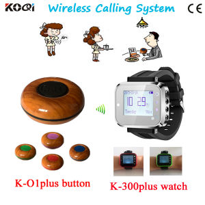 Wireless Watch Wrist Pagers System for Restaurant Calling Waiter Service+Wireless Call CE Passed pictures & photos