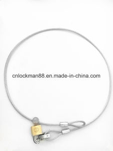 High Quality Padlock with Wirerope pictures & photos