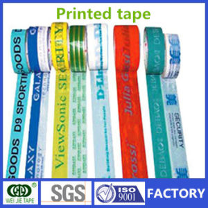 Weijie Logo and Words Printed BOPP Adhesive Packaging Tape Made in China pictures & photos