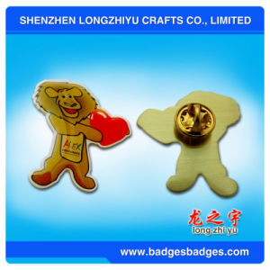 Lapel Pin Manufacturers China Back with Butterfly Pin pictures & photos