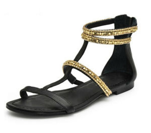 New Model Sexy Women Flat Gladiator Sandals pictures & photos