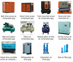 Oil Less Lubrication Style Screw Air Compressor 100HP pictures & photos