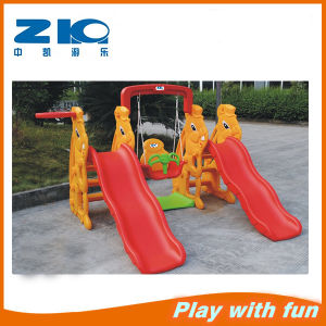 Zhongkai Playground of Plastic Slide with Swing for Children on Discount pictures & photos