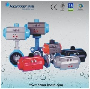 at Series Rack and Pinion Pneumatic Actuator with Double Acting pictures & photos