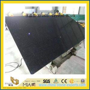 Polished Crstal Black Artificial Quartz Slabs for Kitchen Countertops (YQC) pictures & photos