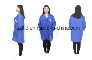 ESD Cotton Smock (grid) (LTLD105-7) pictures & photos