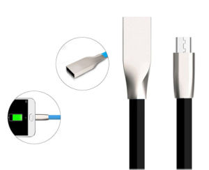 1 M TPE Flat Line Noodles Micro USB Phone Fast Charging Cable for Android iPhone (XSSJ-009) pictures & photos