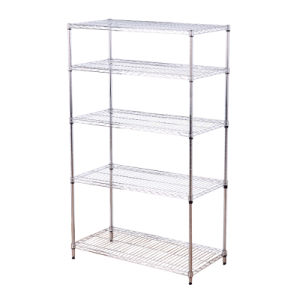 Double-Side Feature Adjustable Steel Display Exhibition Shelf Rack pictures & photos