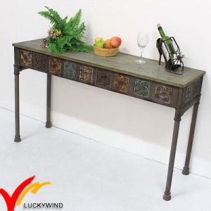 Luckywind Shabby Chic Vintage industrial Metal Console Table pictures & photos