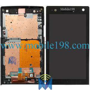 LCD and Touch Screen with Front Housing for Sony Xperia S Lt26I pictures & photos