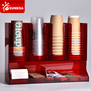 Acrylic Plastic Coffee Napkins Organizer pictures & photos
