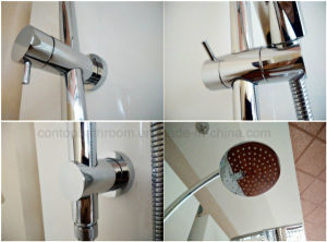 Wels Approval Shower Column Set with Brass Shower Head pictures & photos
