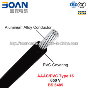 AAAC/PVC Type 16, PVC Covered Conductors for Overhead Power Lines, 650 V (BS 6485) pictures & photos