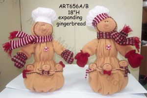 Fleece Gingerbread Fellows with Cookies, 2 Asst-Christmas Decoration pictures & photos