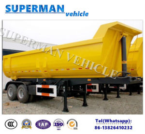 2 Axle U Shape Coal Transport Tipper Dump Trailer/Tipping Semi Trailer pictures & photos