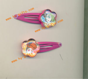 Plastic Hair Clip, Flower Shape, Coustom Cartoon Stickers Children Hair Clip