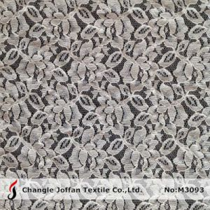 Ivory Allover Cotton Lace Fabric (M3093) pictures & photos