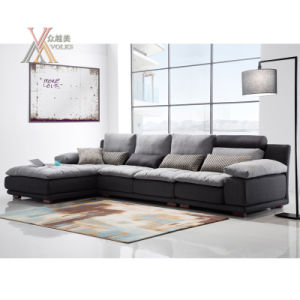 Modern Fashion Fabric Sofa Free Combination Filled with Feather (1610) pictures & photos