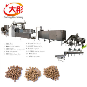Dry Extruded Pet Dog Cat Fish Food Production Line pictures & photos