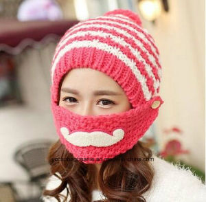 Fashion Girl Mouth Coverd Warm Winter Knitted Hats pictures & photos
