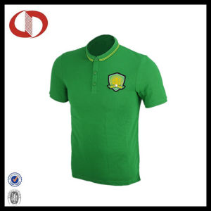 Custom Design Hot Sale Green Soccer Jersey with Collar for Man pictures & photos