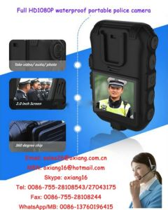 2.0 Inch Waterproof Portable Body Worn Police Camera Full HD1080p Wireless Video Camera Police Recorer Zp605 Support WiFi /GPS/GPRS pictures & photos