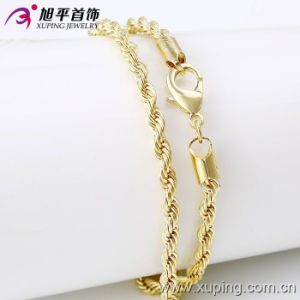 Wholesale Xuping Jewelry Fashion 14k Gold-Plated Men′s Necklace in Environmental Copper Alloy 42368 pictures & photos