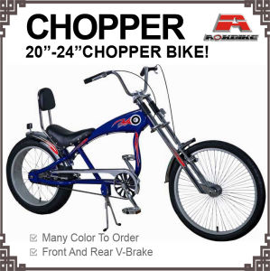 Big Size Steel Box Tube 20-24 Inch Chopper Bicycle pictures & photos