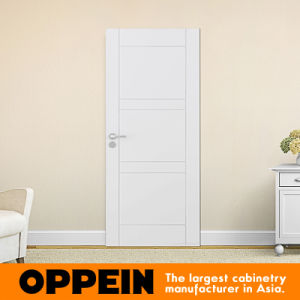 Guangzhou Oppein Fashion White PVC Wooden Door (JHS-02) pictures & photos