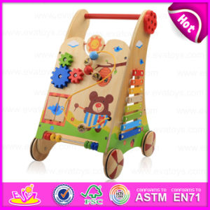 2015 New Arrival Learning Wooden Baby Walker Toy, Multifunction Woodeen Walker, Educational Wooden Baby Walker Trolley Toy W16e034 pictures & photos
