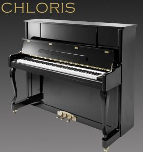 Music Instrument Chloris Beautiful Serious Black Upright Piano Hu-123es with Antique Curly Legs