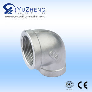 Stainless Steel Thread BSPT 90 Degree Elbow pictures & photos