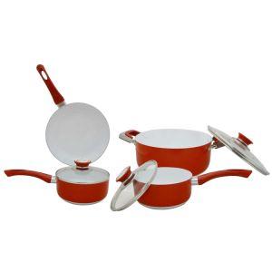 Amazon Vendor 7 Piece Eco Ceramic Nonstick Cookware Set pictures & photos