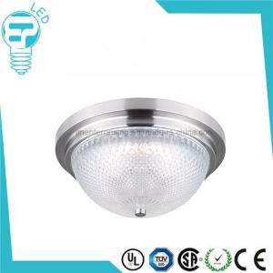 Flush-Mount Brushed Nickel Frosted Glass Interior LED Ceiling Light pictures & photos