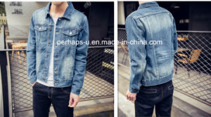2017 New Design Casual Lapel Men′s Denim Jacket pictures & photos