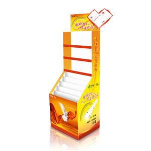Offset Printing Corrugated Floor Display Shelf for Foods pictures & photos