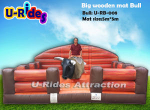Hot games Mechanical Bunking Bull with Western inflatable mat pictures & photos