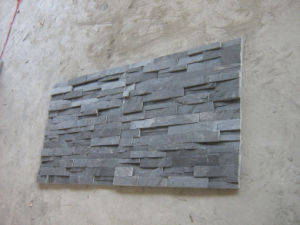 Wholesale Natural Black Corner Slate for Wall pictures & photos