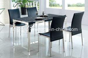 Simple 4 People Glass Dining Table Living Room Furniture / Home Furniture pictures & photos