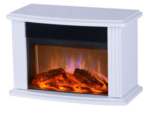 White-Electric Mini Fireplace