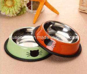 Stainless Pet Bowl Cat Feeding Bowl pictures & photos